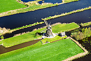 Nederland, Utrecht, Gemeente Loenen aan de Vecht, 09-04-2014; Loenderveense Molen, poldermolen.<br /> luchtfoto (toeslag op standard tarieven);<br /> aerial photo (additional fee required);<br /> copyright foto/photo Siebe Swart