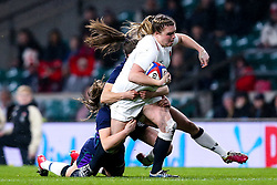 Sarah Bern of England Women is tackled - Mandatory by-line: Robbie Stephenson/JMP - 16/03/2019 - RUGBY - Twickenham Stadium - London, England - England Women v Scotland Women - Women's Six Nations