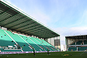 Warm up for Hibs goalkeepers before the William Hill Scottish Cup quarter final match between Hibernian and Celtic at Easter Road, Edinburgh, Scotland on 2 March 2019.l