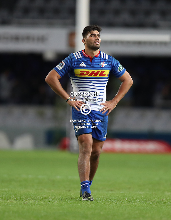 DURBAN, SOUTH AFRICA - MAY 27: Damian de Allende of the DHL Stormers during the Super Rugby match between Cell C Sharks and DHL Stormers at Growthpoint Kings Park on May 27, 2017 in Durban, South Africa. (Photo by Steve Haag/Gallo Images)