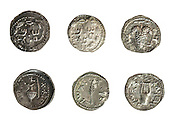 Simon Bar-Kokhba coins 132-135 CE Silver Denarius or Zuz On White Background