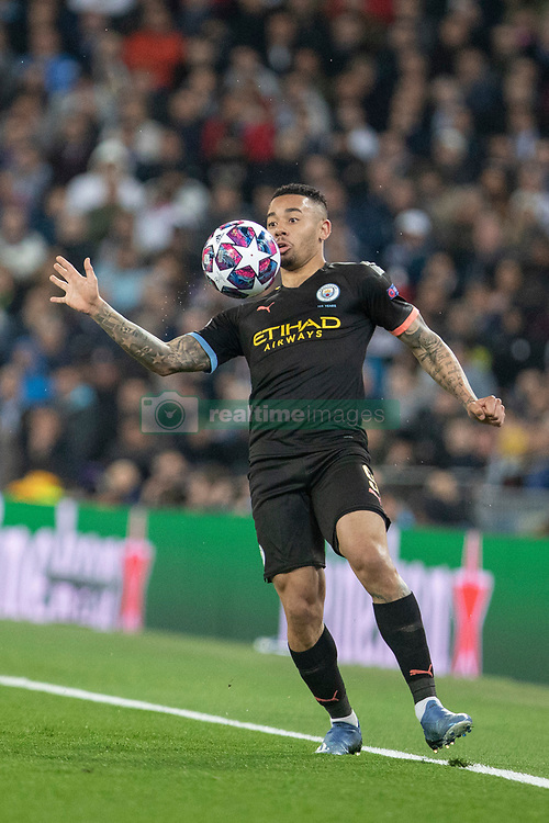 Manchester City's Gabriel Jesus during the UEFA Champions League round of 16 first leg match Real Madrid v Manchester City at Santiago Bernabeu stadium on February 26, 2020 in Madrid, Sdpain. Real was defeated 1-2. Photo by David Jar/AlterPhotos/ABACAPRESS.COM