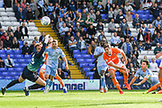 Coventry City midfielder (on loan from Aston Villa) Callum O'Hare (17) scores a goal from open play 3-2 during the EFL Sky Bet League 1 match between Coventry City and Blackpool at the Trillion Trophy Stadium, Birmingham, England on 7 September 2019.