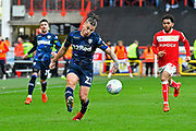 Kalvin Phillips (23) of Leeds United on the attack during the EFL Sky Bet Championship match between Bristol City and Leeds United at Ashton Gate, Bristol, England on 9 March 2019.