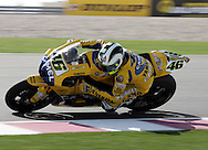Valentino Rossi wins the Commercial Bank Grand Prix of Qatar, MOTO GP class, Losail International Circuit, 8 April 2006