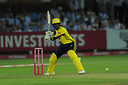 Fidel Edwards of Hampshire batting during the Vitality T20 Blast South Group match between Middlesex County Cricket Club and Hampshire County Cricket Club at Lord's Cricket Ground, St John's Wood, United Kingdom on 26 July 2018. Picture by Dave Vokes.