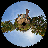 Little Planet View. Home renovation -- new patio. Autumn backyard in New Jersey. Image taken with a Nikon D800 camera and 14-24 mm f/2.8 lens (ISO 100, 14 mm, f/16, 1/100 sec)