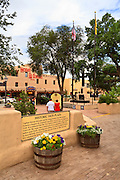Taos Plaza and the Hotel La Fonda.