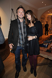 The Ruinart Champagne Christmas drinks party held at Berluti, Conduit Street, London on 9th December 2009.<br /> Picture shows:- PETE & CAROLINA TONG *** Local Caption *** Image free to use for private use.  If in doubt contact us - info@donfeatures.com