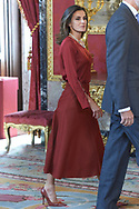 King Felipe VI of Spain, Queen Letizia of Spain attend an official lunch at Palacio Real on October 24, 2018 in Madrid, Spain