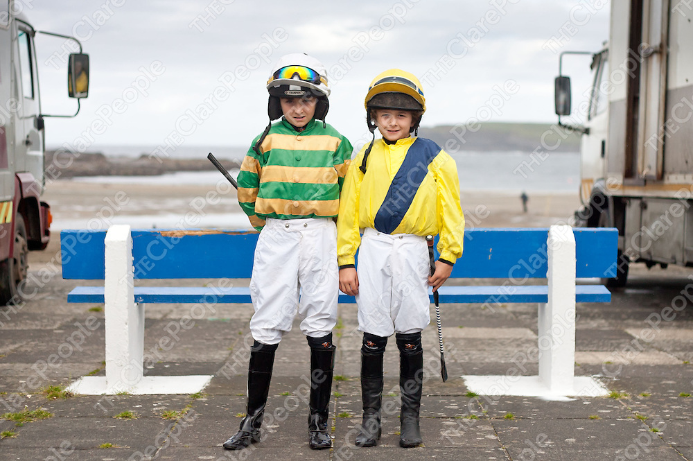 16.09.12<br /> Action from the Kilkee Strand Races, Horse and Pony Race Meeting. Attending the meet were brothers Danny and Michael Sheehy.<br /> Pic. Alan Place / Press 22