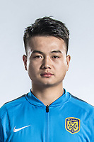 **EXCLUSIVE**Portrait of Chinese soccer player Jiang Jinhu of Jiangsu Suning F.C. for the 2018 Chinese Football Association Super League, in Nanjing city, east China's Jiangsu province, 23 February 2018.