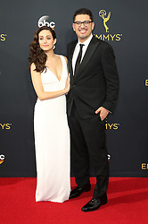 Sam Esmail, Emmy Rossum  bei der Verleihung der 68. Primetime Emmy Awards in Los Angeles / 180916<br /> <br /> *** 68th Primetime Emmy Awards in Los Angeles, California on September 18th, 2016***