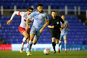 Maxime Biamou of Coventry City (9) goes on a run with the ball during the EFL Sky Bet League 1 match between Coventry City and Rotherham United at the Trillion Trophy Stadium, Birmingham, England on 25 February 2020.