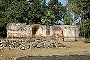 Ruins of the Fortaleza de la Concepcion, a defensive fortress ordered to be built in 1494 by Christopher Columbus at Vega Vieja, Dominican Republic, in the Caribbean. The brick fort was completed in 1502, but most of it was destroyed in an earthquake in 1562. Picture by Manuel Cohen