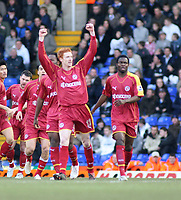 Photo: Mark Stephenson.<br />Birmingham City v Reading. The FA Cup. 27/01/2007.<br />Reading's Dave Kitson gets their first