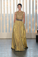A model walks the runway wearing Jenny Packham Fall 2014 in New York on February 11th, 2014