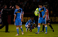 Photo: Richard Lane.<br />Cheltenham Town v Wycombe Wanderers. Coca Cola League 2. Play off Semi Final, 2nd Leg. 18/05/2006. <br />Wycombe dejection.
