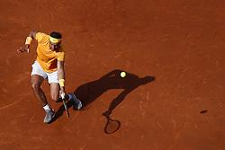 April 27, 2018 - Barcelona, Barcelona, Spain - 27th April 2018. Barcelona, Spain; Banc Sabadell Barcelona Open Tennis tournament; Rafa Nadal during his quarter of final match between Martin Klizan (Credit Image: © Eric Alonso via ZUMA Wire)