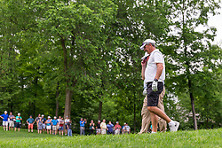 May 29, 2019 - Dublin, OH, U.S. - DUBLIN, OH - MAY 29: Former Ohio State Buckeyes head coach Urban Meyer walks along the fairway as fans watch during the Pro-Am of the Memorial Tournament presented by Nationwide at Muirfield Village Golf Club on May 30, 2018 in Dublin, Ohio. (Photo by Adam Lacy/Icon Sportswire) (Credit Image: © Adam Lacy/Icon SMI via ZUMA Press)