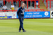 York City Manager Russell Wilcox during the Sky Bet League 2 match between Stevenage and York City at the Lamex Stadium, Stevenage, England on 12 September 2015. Photo by Simon Davies.