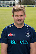 Nimmo Reid (Head of Science & Medicine) during the Kent County Cricket Club Photocall 2017 at the Spitfire Ground, Canterbury, United Kingdom on 31 March 2017. Photo by Martin Cole.