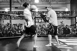 Los Angeles, California, USA - February 25, 2015: Raquel Pennington works out at the UFC Gym for her upcoming bout against Holly Holm at UFC 184 at the Staples Center in Los Angeles, California.  Ed Mulholland for ESPN