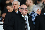 Derby County owner, Mel Morris, during the EFL Sky Bet Championship match between Derby County and Barnsley at Pride Park Stadium, Derby, England on 4 March 2017. Photo by Aaron  Lupton.
