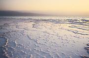 Djibouti. Lake Assal. The salt banks.