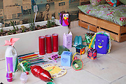 Some of the children's toys made out of recycled materials.