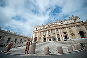 General View of the Saint Peter's Basilica during Pope Francis weekly general audience in st. peter's square at the Vatican on May 09, 2018