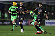 Forest Green Rovers Reece Brown(10) passes the ball forward during the EFL Sky Bet League 2 match between Forest Green Rovers and Mansfield Town at the New Lawn, Forest Green, United Kingdom on 29 January 2019.