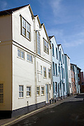 Tall colourful buildings in back streets, Aldeburgh, Suffolk