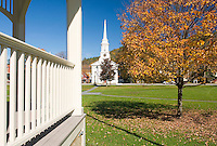 Village green in South Royalton Vermont USA