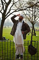 An imam speaks at Speaker's Corner in Hyde Park, London, England.
