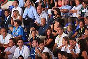DESCRIZIONE : Cagliari Qualificazione Eurobasket 2009 Serbia Italia <br /> GIOCATORE : Ettore Messina Tifosi <br /> SQUADRA : Nazionale Italia Uomini <br /> EVENTO : Raduno Collegiale Nazionale Maschile <br /> GARA : Serbia Italia Serbia Italy <br /> DATA : 20/08/2008 <br /> CATEGORIA : <br /> SPORT : Pallacanestro <br /> AUTORE : Agenzia Ciamillo-Castoria/S.Silvestri <br /> Galleria : Fip Nazionali 2008 <br /> Fotonotizia : Cagliari Qualificazione Eurobasket 2009 Serbia Italia <br /> Predefinita :
