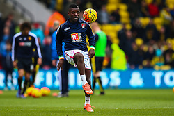 Max Gradel of Bournemouth warms up on the pitch - Mandatory byline: Jason Brown/JMP - 27/02//2016 - FOOTBALL - Vicarage Road - Watford, England - Watford v Bournemouth - Barclays Premier League