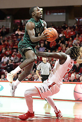 05 December 2015: Hakeem Baxter finds Quintin Brewer (2) while looking for the hoop. Illinois State Redbirds host the University of Alabama - Birmingham Blazers at Redbird Arena in Normal Illinois (Photo by Alan Look)