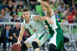 Dino Muric of Union Olimpija vs brother Edo Muric of Krka during basketball match between KK Union Olimpija Ljubljana and KK Krka in 4th Final match of Telemach League - Slovenian Championship 2013/14 on May 29, 2014 in Arena Stozice, Ljubljana, Slovenia. Photo by Vid Ponikvar / Sportida