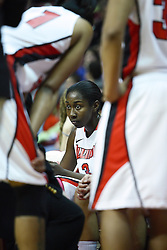 05 February 2011: Candace Sykes in a time out huddle during an NCAA Women's basketball game between the Indiana State Sycamores and the Illinois State Redbirds at Redbird Arena in Normal Illinois.
