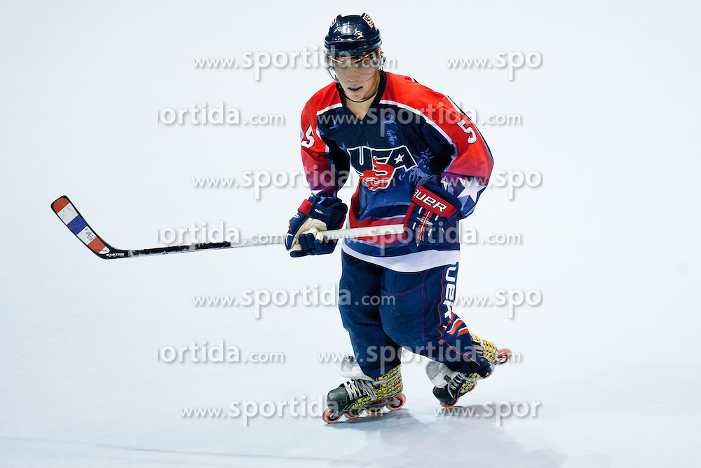 Itan Chavira of USA at IIHF In-Line Hockey World Championships 2011 Top Division Gold medal game between National teams of Czech republic and USA on June 25, 2011, in Pardubice, Czech Republic. (Photo by Matic Klansek Velej / Sportida)
