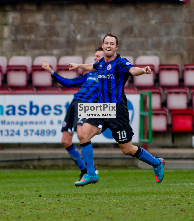 Dunfermline Athletic v Stirling Albion SPFL League One East End Park 14 March 2015<br /> Gordon Smith (10) makes it 1-0 to Stirling<br /> CRAIG BROWN | sportPix.org.uk