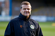 Forest Green Rovers manager Mark Cooper arrives during the EFL Sky Bet League 2 match between Carlisle United and Forest Green Rovers at Brunton Park, Carlisle, England on 24 November 2018.