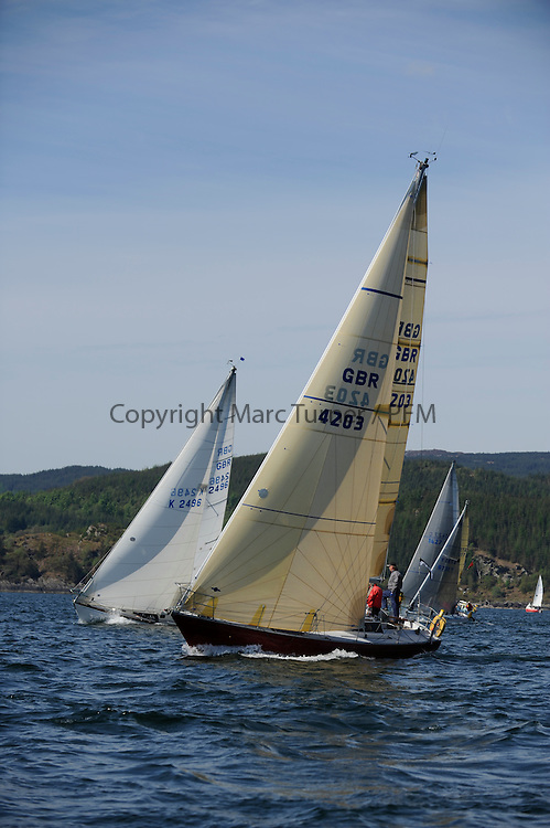 The Clyde Cruising Club's Scottish Series held on Loch Fyne by Tarbert. Day 2 racing in a perfect southerly..K4203, Stargazer, A. Campbell/ A. Bisland, CCC / Arran YC , Grand Soleil 34