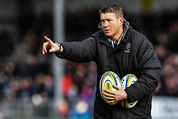 Worcester Warriors Head Coach Carl Hogg during the pre match warm up - Mandatory by-line: Craig Thomas/JMP - 10/02/2018 - RUGBY - Sandy Park Stadium - Exeter, England - Exeter Chiefs v Worcester Warriors - Aviva Premiership