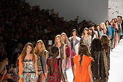 The finale to the Custo Barcelona Spring 2013 show at New york Fashion Week.