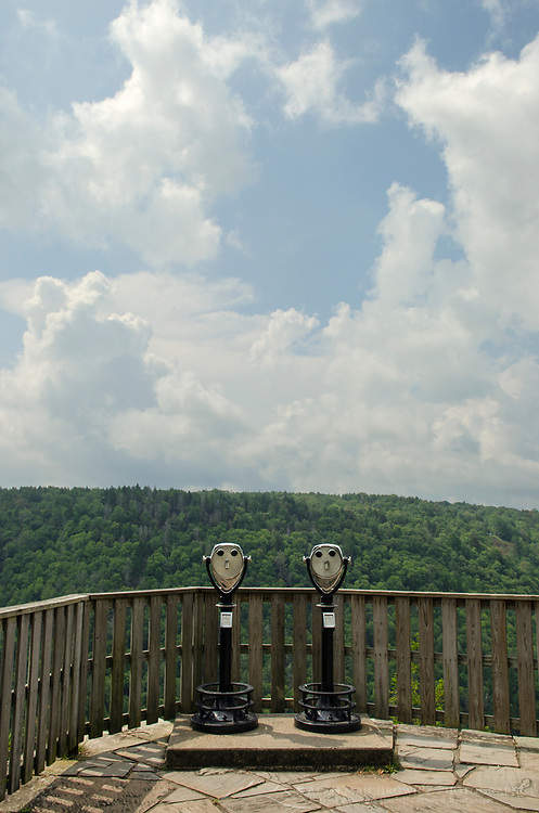Viewpoint Binoculars at Pendleton Point Overlook. Blackwatrer Falls West Virginia