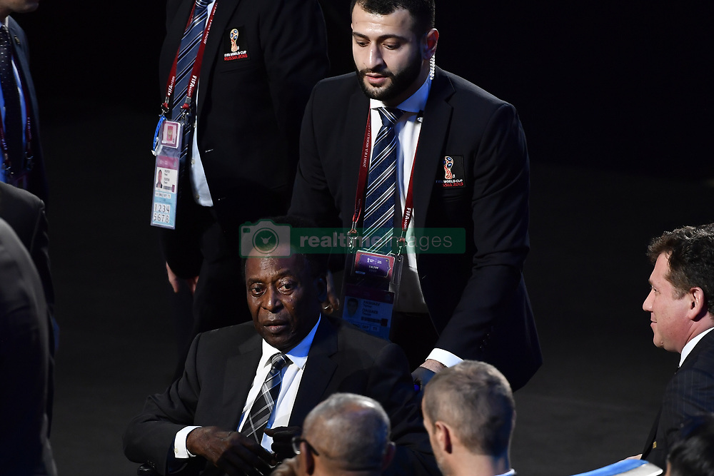December 1, 2017 - Moscow, RUSSIA - Former Brazilian soccer player Edson Arantes do Nascimento Pele pictured during the draw for the 2018 World Cup soccer in Moscow, with Belgium team in pot one, Russia, Friday 01 December 2017...BELGA PHOTO DIRK WAEM (Credit Image: © Dirk Waem/Belga via ZUMA Press)