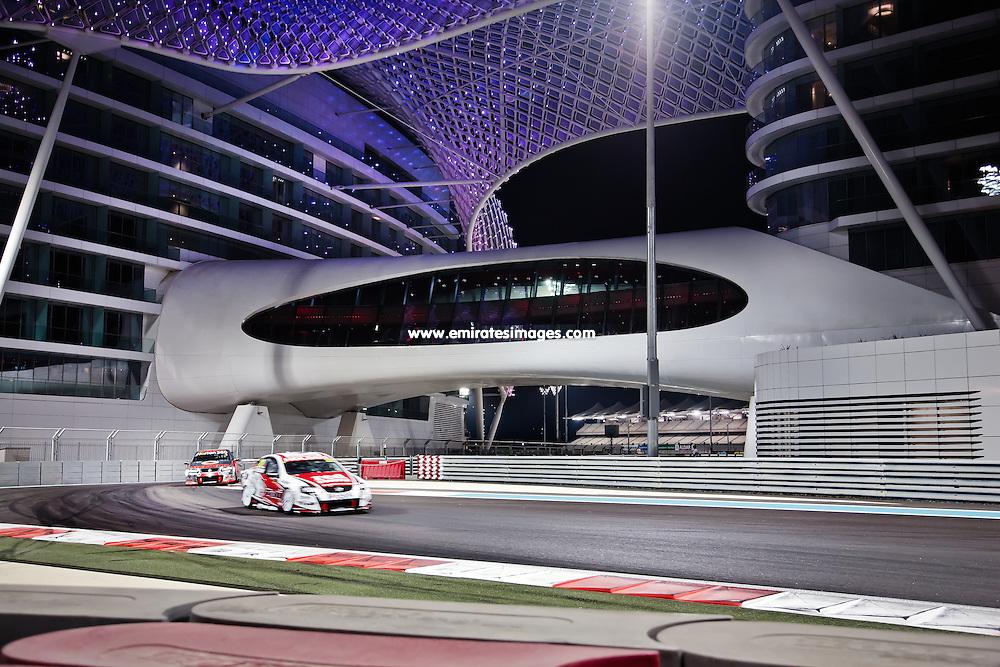Car racing at Yas Marina Circuit Abu Dhabi