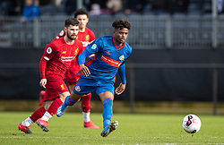 LIVERPOOL, ENGLAND - Monday, February 24, 2020: Sunderland's Bali Mumba during the Premier League Cup Group F match between Liverpool FC Under-23's and AFC Sunderland Under-23's at the Liverpool Academy. (Pic by David Rawcliffe/Propaganda)